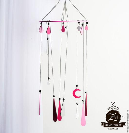 """Ловцы снов ручной работы. Ярмарка Мастеров - ручная работа. Купить Ловец снов """"Розовый дождь"""". Handmade. Розовый, белый"""