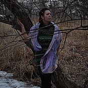 Аксессуары ручной работы. Ярмарка Мастеров - ручная работа Валяный шарф-палантин Предрассветные сумерки. Handmade.