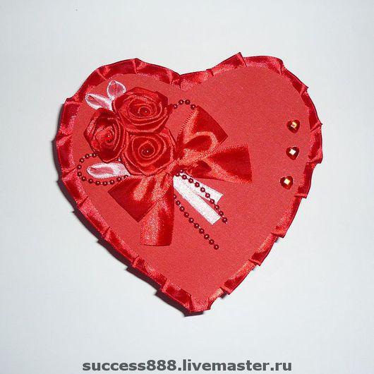 Подарочная упаковка ручной работы. Ярмарка Мастеров - ручная работа. Купить Подарочная коробочка в форме сердца с розами - оригинальная упаковка. Handmade.