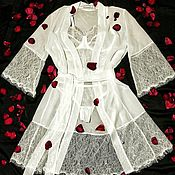 Одежда handmade. Livemaster - original item Bridal set: robe, lace lingerie