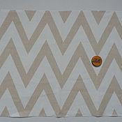 Материалы для творчества ручной работы. Ярмарка Мастеров - ручная работа лен ткань Геометрия2. Handmade.