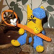 Куклы и игрушки ручной работы. Ярмарка Мастеров - ручная работа Вязаный кот Солнышкин. Handmade.