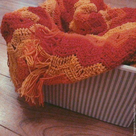 Текстиль, ковры ручной работы. Ярмарка Мастеров - ручная работа. Купить Плед. Handmade. Желтый, покрывало, интерьер, красивый, сочный