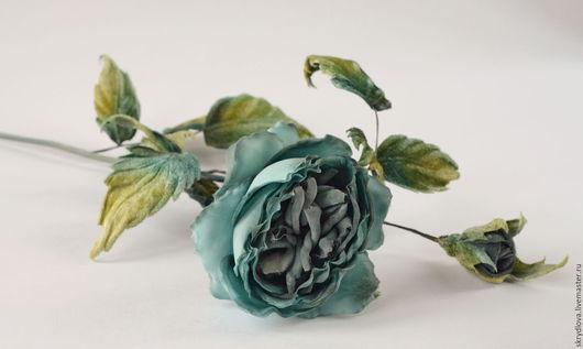 """Букеты ручной работы. Ярмарка Мастеров - ручная работа. Купить Цветы из шелка интерьерная роза  """"Морская волна"""". Handmade."""