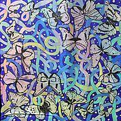 """Аксессуары ручной работы. Ярмарка Мастеров - ручная работа Платок """"Бабочки и ленты"""". Handmade."""
