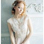 Одежда ручной работы. Ярмарка Мастеров - ручная работа платье полупрозрачное с кружевом. Handmade.