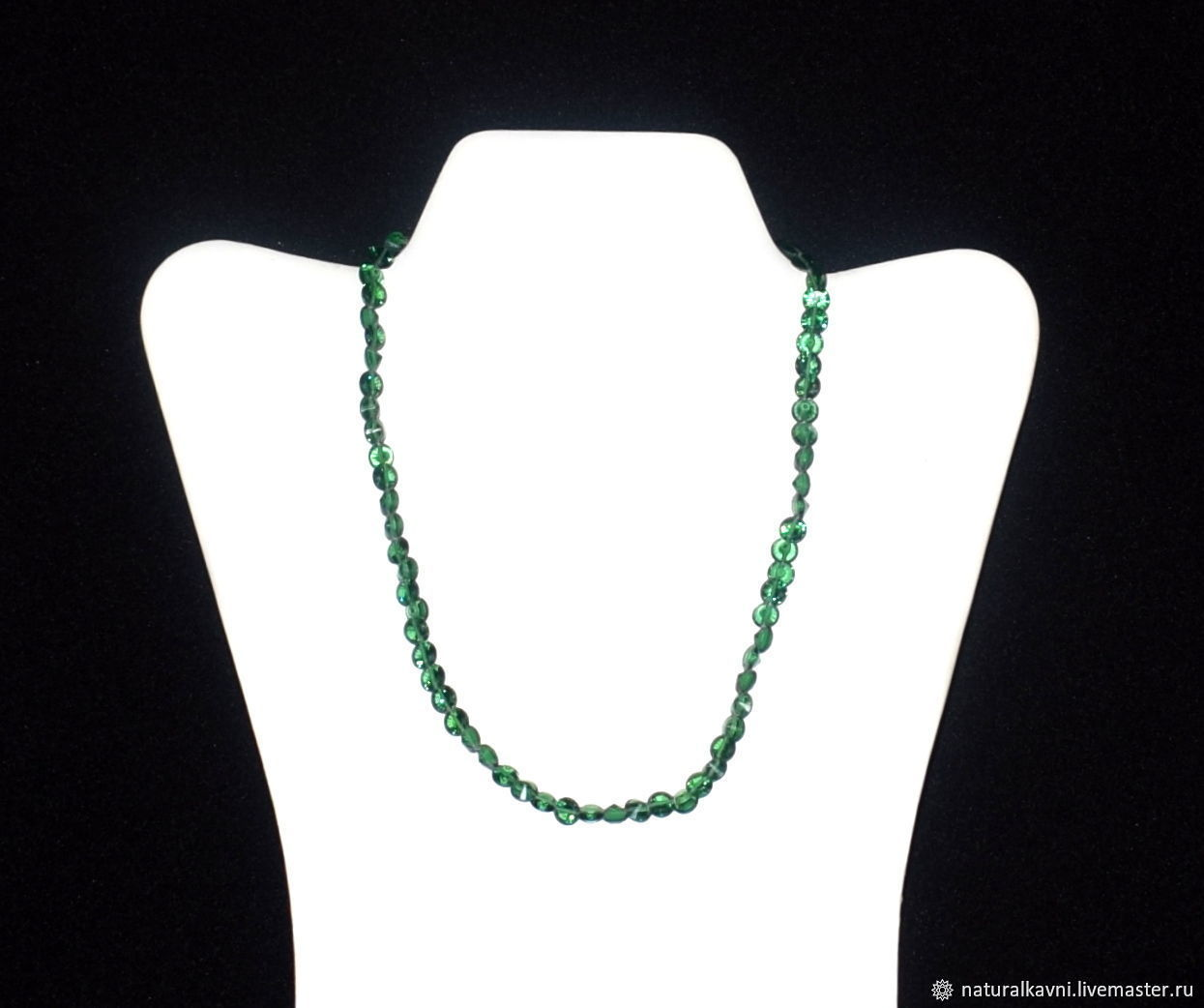 Green zircon beads / necklace, Beads2, Moscow,  Фото №1