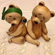Куклы и игрушки ручной работы. Ярмарка Мастеров - ручная работа Деревянные Мишки. Handmade.