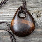 Украшения handmade. Livemaster - original item The pendant is made of bog oak. Handmade.