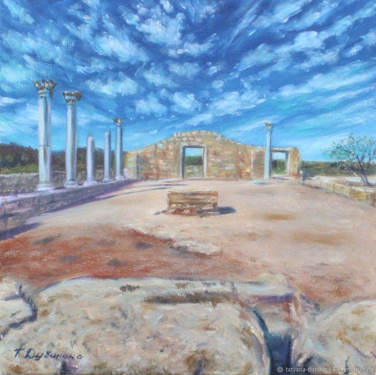 Картина Небо над Херсонесом, 30*30 см, х/м, Картины, Верхняя Хава,  Фото №1