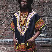 Одежда ручной работы. Ярмарка Мастеров - ручная работа Африканская рубашка Dashiki (Унисекс).. Handmade.