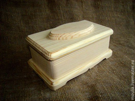 Заготовка для декупажа. Шкатулка деревянная  из сосны 21x12х8,5 см арт 044-3    4/0?