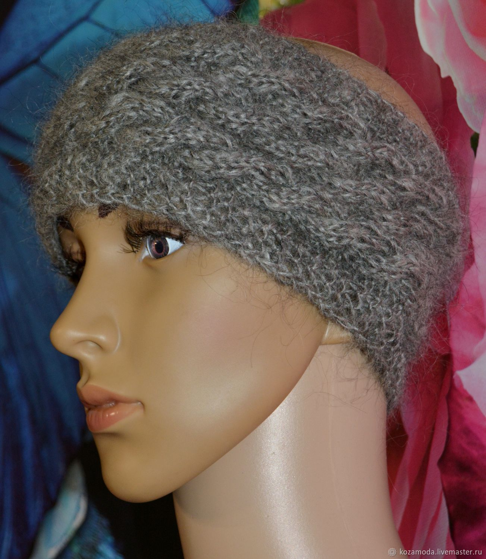 ... grey goat down. Headbands handmade. Livemaster - handmade. Buy Headband  down on the head of Uryupinsk natural ... a0cc4218017e
