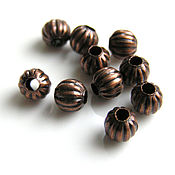 Материалы для творчества handmade. Livemaster - original item Bead metal forging copper 6mm. Handmade.