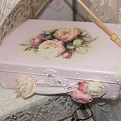 Для дома и интерьера ручной работы. Ярмарка Мастеров - ручная работа Шебби-чемоданчик  Roses. Handmade.