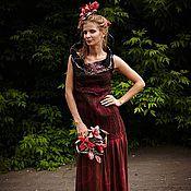 Одежда ручной работы. Ярмарка Мастеров - ручная работа Платье Элиза из шерсти и шелка. Handmade.