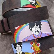 Аксессуары handmade. Livemaster - original item BEATLE`YELLOW`SUB strap leather. Handmade.