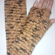 Аксессуары handmade. Livemaster - original item Tiger mitts with braids. Handmade.