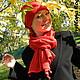 """Шапки ручной работы. Ярмарка Мастеров - ручная работа. Купить """"МАКОШЬ"""" - шапочка+шарф. Handmade. Ярко-красный, Авторский дизайн"""