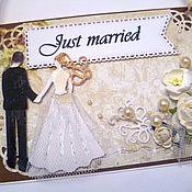 """Свадебный салон ручной работы. Ярмарка Мастеров - ручная работа Табличка на дверь """"Молодожены"""". Handmade."""