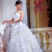 Одежда ручной работы. Ярмарка Мастеров - ручная работа Свадебная юбка Скарлетт белые  воланы из органзы. Handmade.