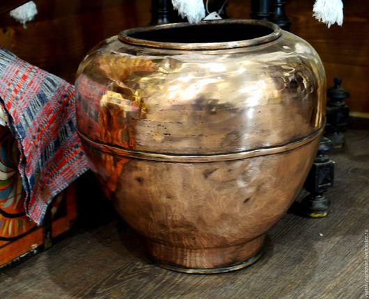 Винтажные предметы интерьера. Ярмарка Мастеров - ручная работа. Купить Корчага старинная медная 20 литров. Handmade. Коралловый, корчага