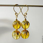 Украшения handmade. Livemaster - original item Amber earrings S-06. Handmade.