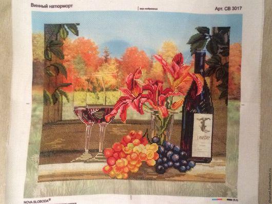 Натюрморт ручной работы. Ярмарка Мастеров - ручная работа. Купить винный натюрморт. Handmade. Красный цветок, зеленый цвет