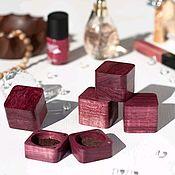 Упаковка ручной работы. Ярмарка Мастеров - ручная работа Мини-коробочки для колец деревянные Полумягкий куб. Handmade.