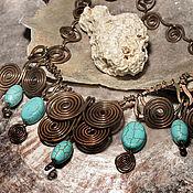 Украшения handmade. Livemaster - original item Necklace Scythia (howlite). Handmade.