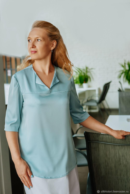 Silk blouse, Nile water, Blouses, Kursk, Фото №1