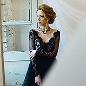 """Свадебный салон ручной работы. Ярмарка Мастеров - ручная работа """"Черная жемчужина"""" оригинальное свадебное платье. Handmade."""