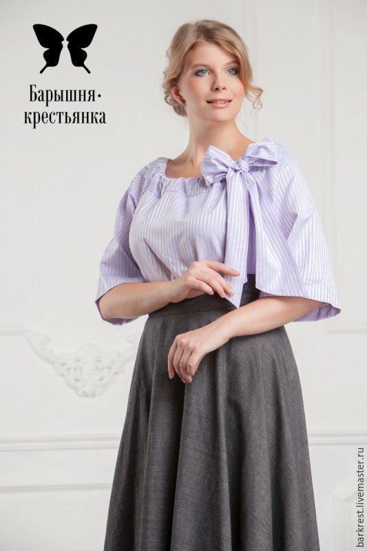 Блузка крестьянка купить интернет магазин