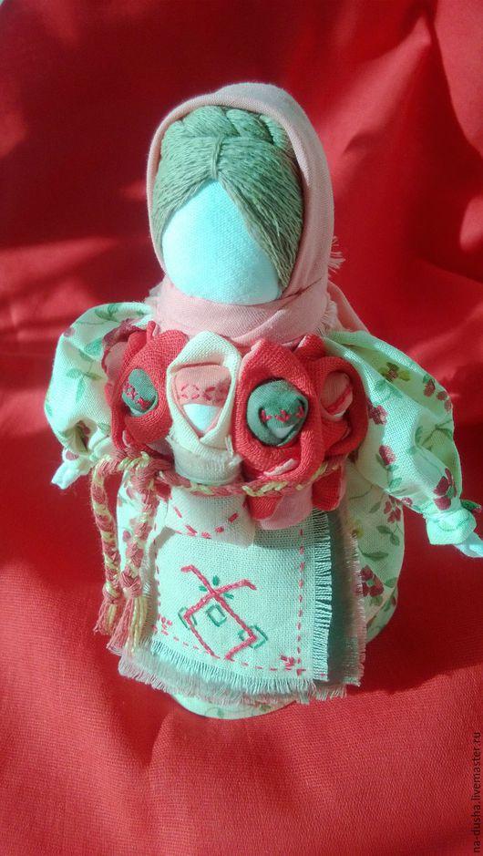 Народная кукла, Московка, Плодородие, Седьмая Я, Семья, оберег, обережная кукла, символ достатка, материнство, обереги купить, подарок, оберег беременной, красный, восьмое марта, 8 марта