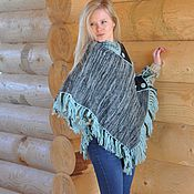 Одежда handmade. Livemaster - original item Poncho of wool and Alpaca. Handmade.