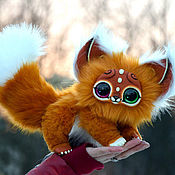 Куклы и игрушки ручной работы. Ярмарка Мастеров - ручная работа Разноглазый кошачий зверек. Handmade.