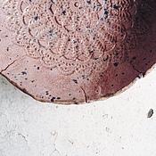 "Посуда ручной работы. Ярмарка Мастеров - ручная работа кружевная тарелка ""розовое масло"". Handmade."