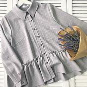 Одежда ручной работы. Ярмарка Мастеров - ручная работа Рубашка «Фелиция». Handmade.