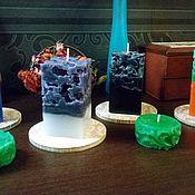 Сувениры и подарки ручной работы. Ярмарка Мастеров - ручная работа Свеча ажурная цветная. Handmade.