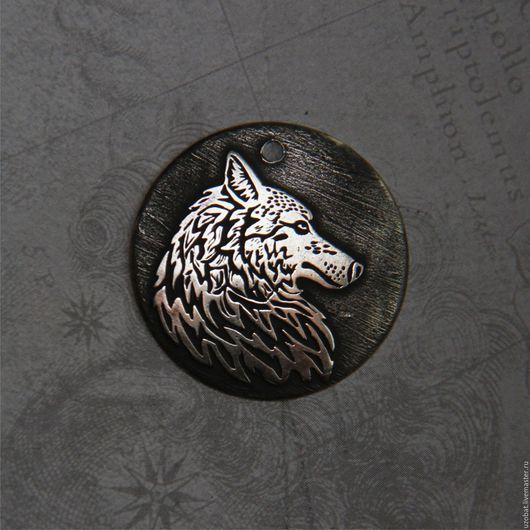 """Кулоны, подвески ручной работы. Ярмарка Мастеров - ручная работа. Купить Украшение - оберег """"Волк 2"""". Handmade. Украшения, обереги"""