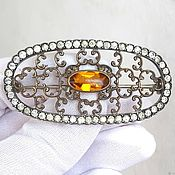 Винтаж handmade. Livemaster - original item Antique brooch, USA, patent 1908, silver and silver plated. Handmade.