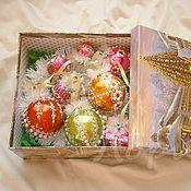 Подарки к праздникам ручной работы. Ярмарка Мастеров - ручная работа Набор новогодних шаров. Handmade.