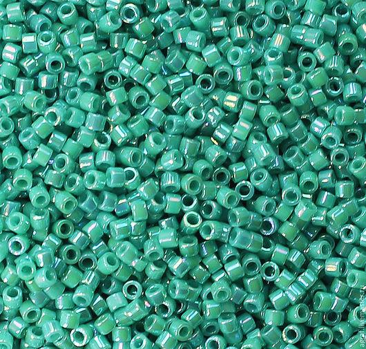 Для украшений ручной работы. Ярмарка Мастеров - ручная работа. Купить Delica DB-166 Opaque Turquoise AB  японский бисер делика. Handmade.