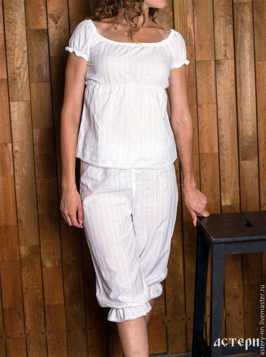 """Белье ручной работы. Ярмарка Мастеров - ручная работа. Купить Панталоны """"МИЛЕНА"""" макси, мини. Handmade. Белый, нижнее белье"""