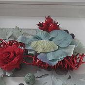 Картины и панно ручной работы. Ярмарка Мастеров - ручная работа Вluе and red. Handmade.