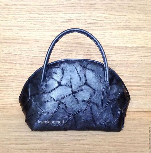 Женские сумки ручной работы. Ярмарка Мастеров - ручная работа. Купить Сумка - саквояж из натуральной кожи. Handmade. Черный
