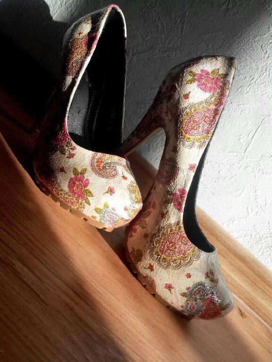 """Обувь ручной работы. Ярмарка Мастеров - ручная работа. Купить """"А я вся такая ..."""" женская обувь на каблуке, ручная работа. Handmade."""