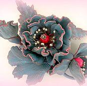 Украшения ручной работы. Ярмарка Мастеров - ручная работа Брошь из кожи Весна. Handmade.