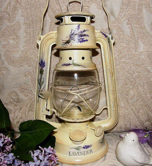 """Подсвечники ручной работы. Ярмарка Мастеров - ручная работа. Купить Лампа-фонарь """"Любите ли вы Прованс ?"""". Handmade. Лампа"""