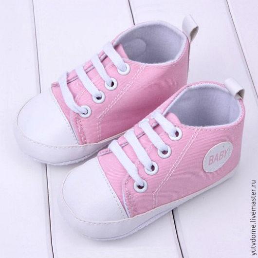 Куклы и игрушки ручной работы. Ярмарка Мастеров - ручная работа. Купить 0058 Обувь для кукол реборнов кеды розовые. Handmade.